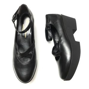 Robert Clergerie Leather Platform Mary Jane Shoes